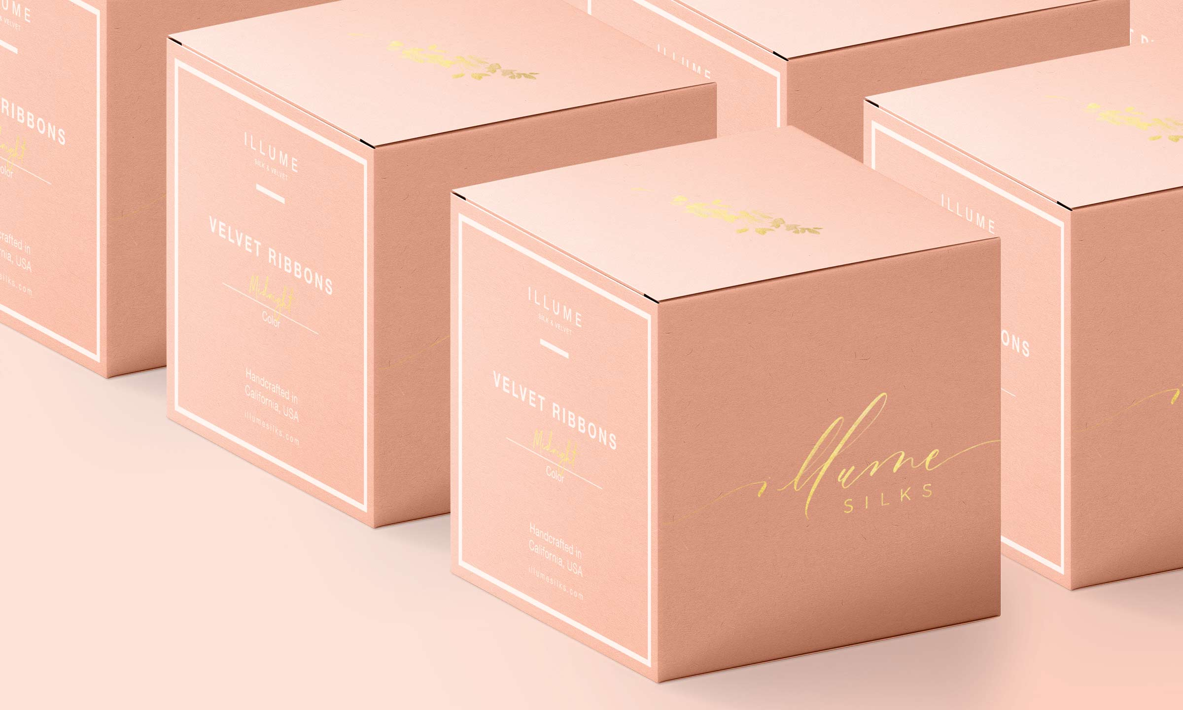 illume silks box packaging concept