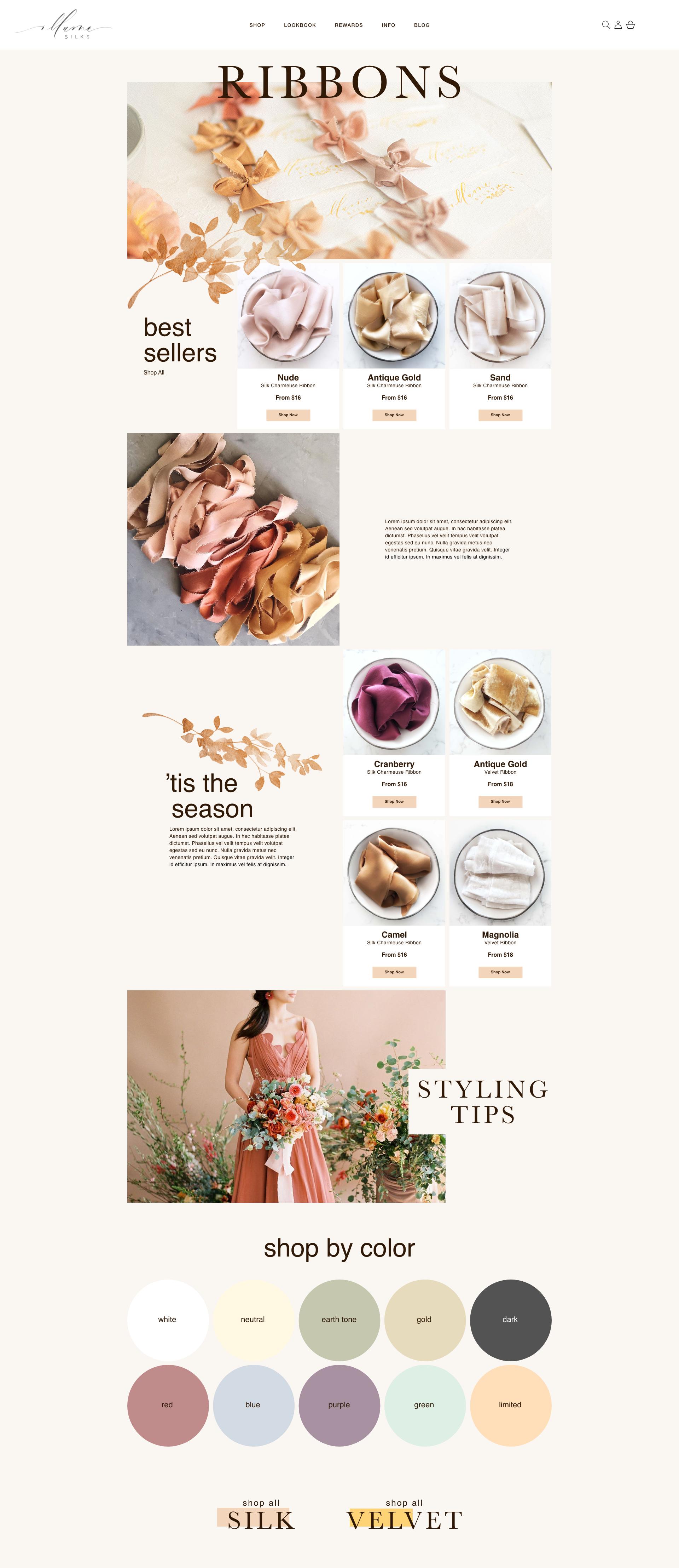 illume silks rebrand website redesign