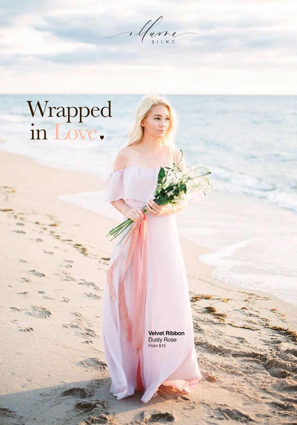 illume silks wrapped in love campaign key art
