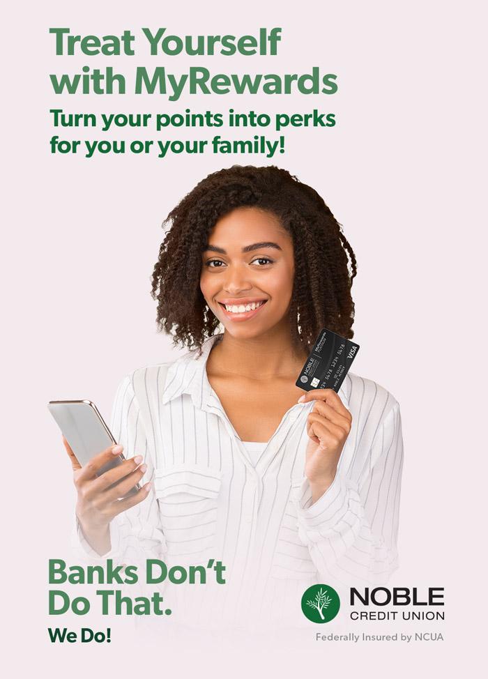 Noble Credit Union Rewards Ad