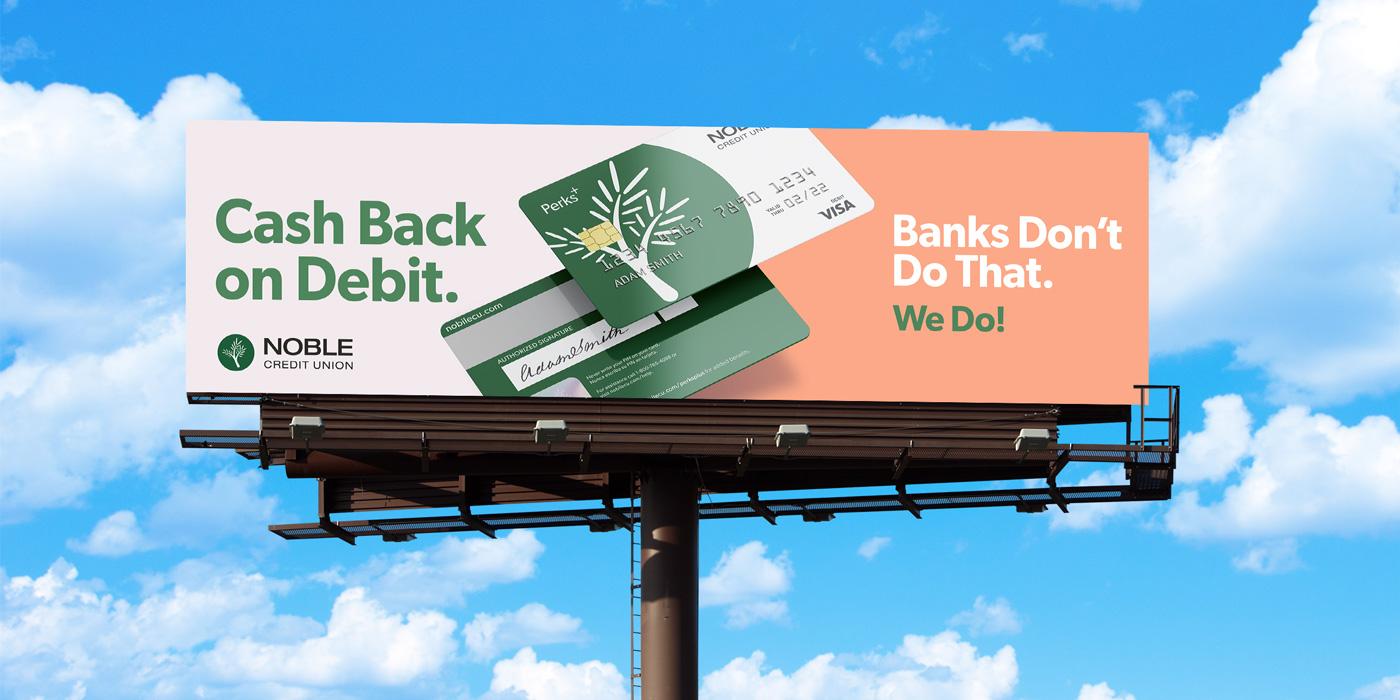 noble credit union billboard