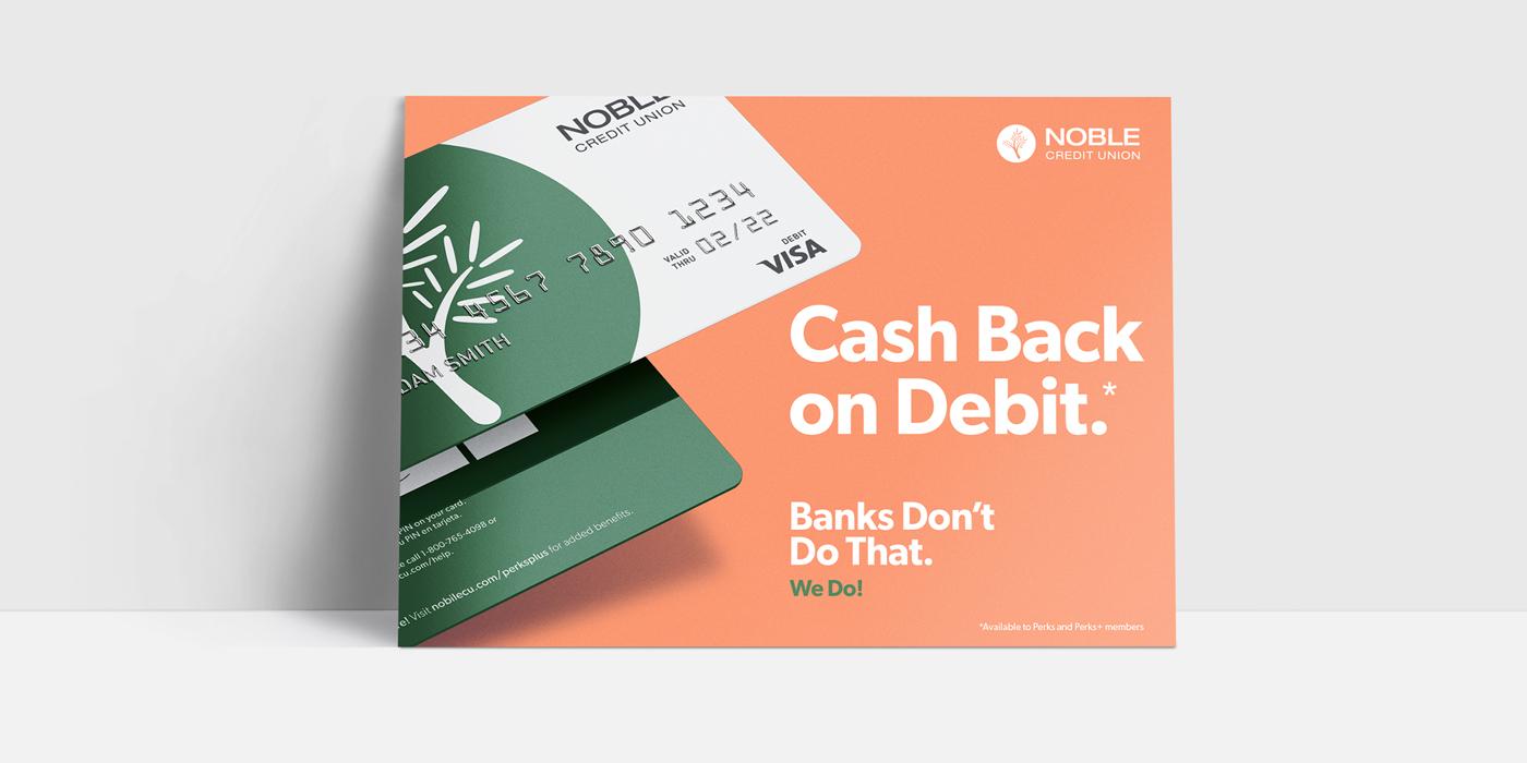 noble credit union postcard